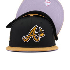 Atlanta Braves Black Panama Tan 2017 Inaugural Season New Era 9Fifty Snapback