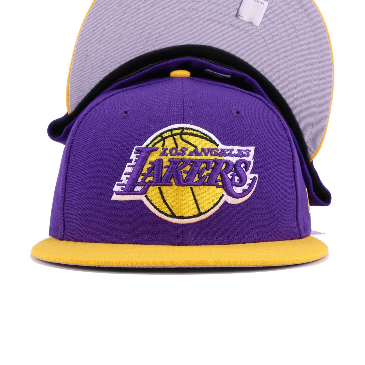Los Angeles Lakers Deep Purple A's Gold New Era 59Fifty Fitted