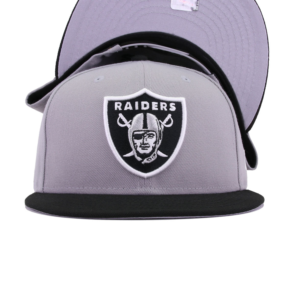 Oakland Raiders Grey Black New Era 9Fifty Snapback
