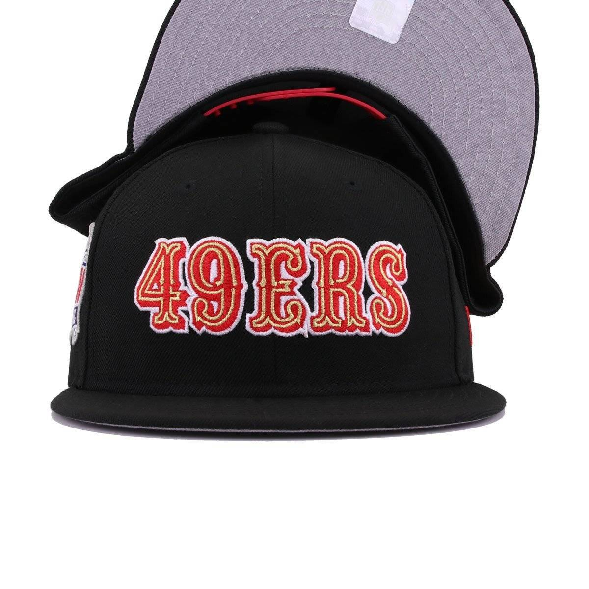 San Francisco 49ers Black Super Bowl 24 New Era 9Fifty Snapback
