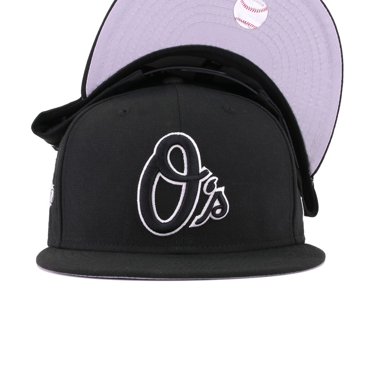 Baltimore Orioles Black White 60th Anniversary New Era 9Fifty Snapback