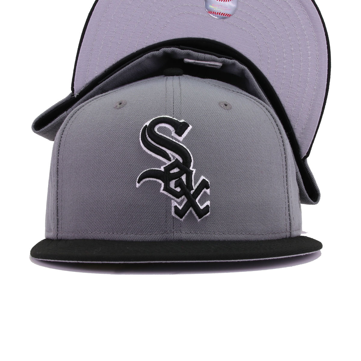 Chicago White Sox Storm Grey Black New Era 59Fifty Fitted