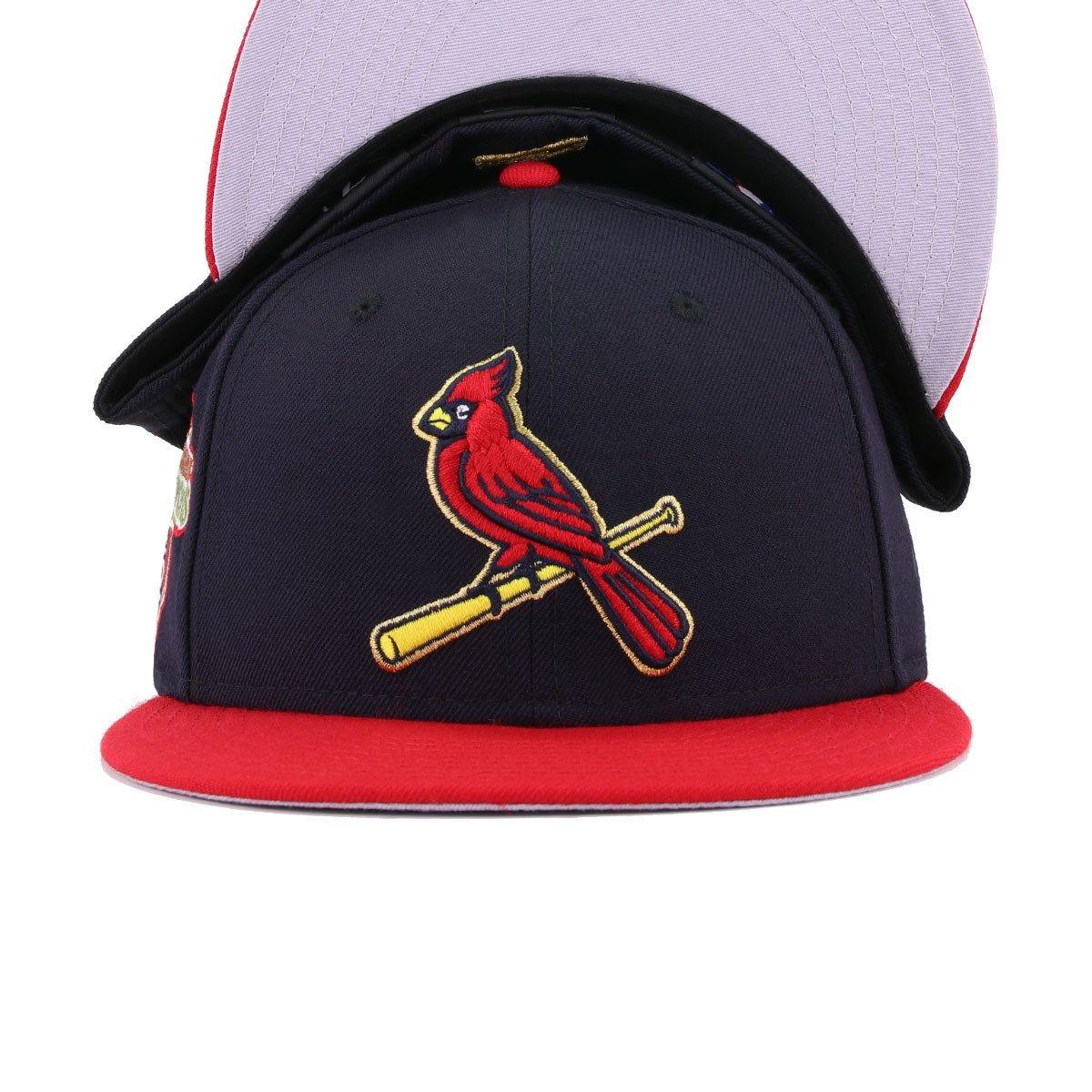 St Louis Cardinals Navy Scarlet 2011 World Series New Era 59Fifty Fitted