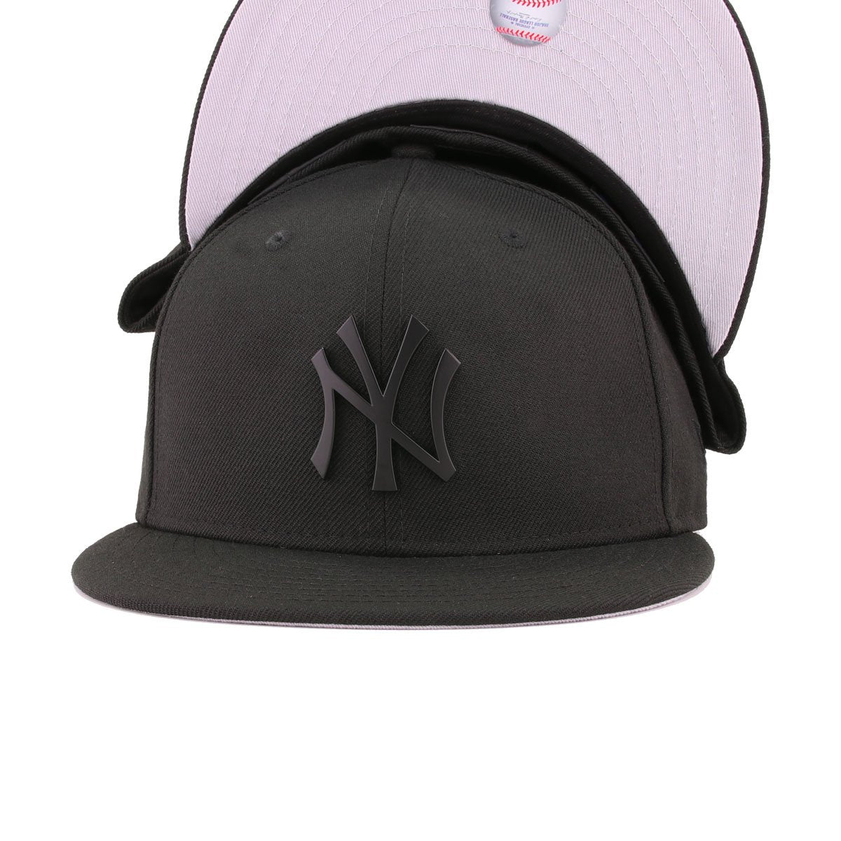 New York Yankees Black Black Metal Badge New Era 59Fifty Fitted