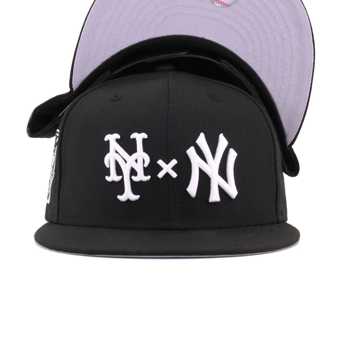 New York Yankees x New York Mets x Hat Heaven Black Subway Series New Era 9Fifty Snapback