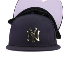 New York Yankees Navy Gold Metal Badge New Era 59Fifty Fitted
