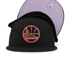 Golden State Warriors Black Metallic Copper New Era 9Fifty Snapback