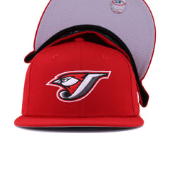 Toronto Blue Jays Scarlet Cooperstown New Era 59Fifty Fitted