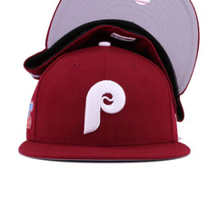 Philadelphia Phillies Cardinal Red 1980 World Series New Era 59Fifty Fitted