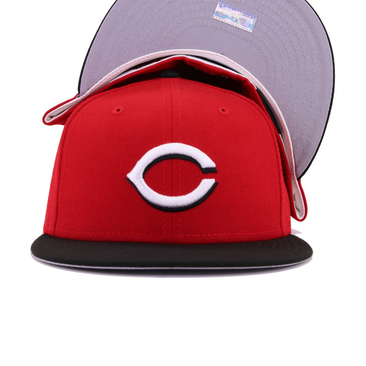 Cincinnati Reds Scarlet Black Alternate 1 Cooperstown New Era 59Fifty Fitted