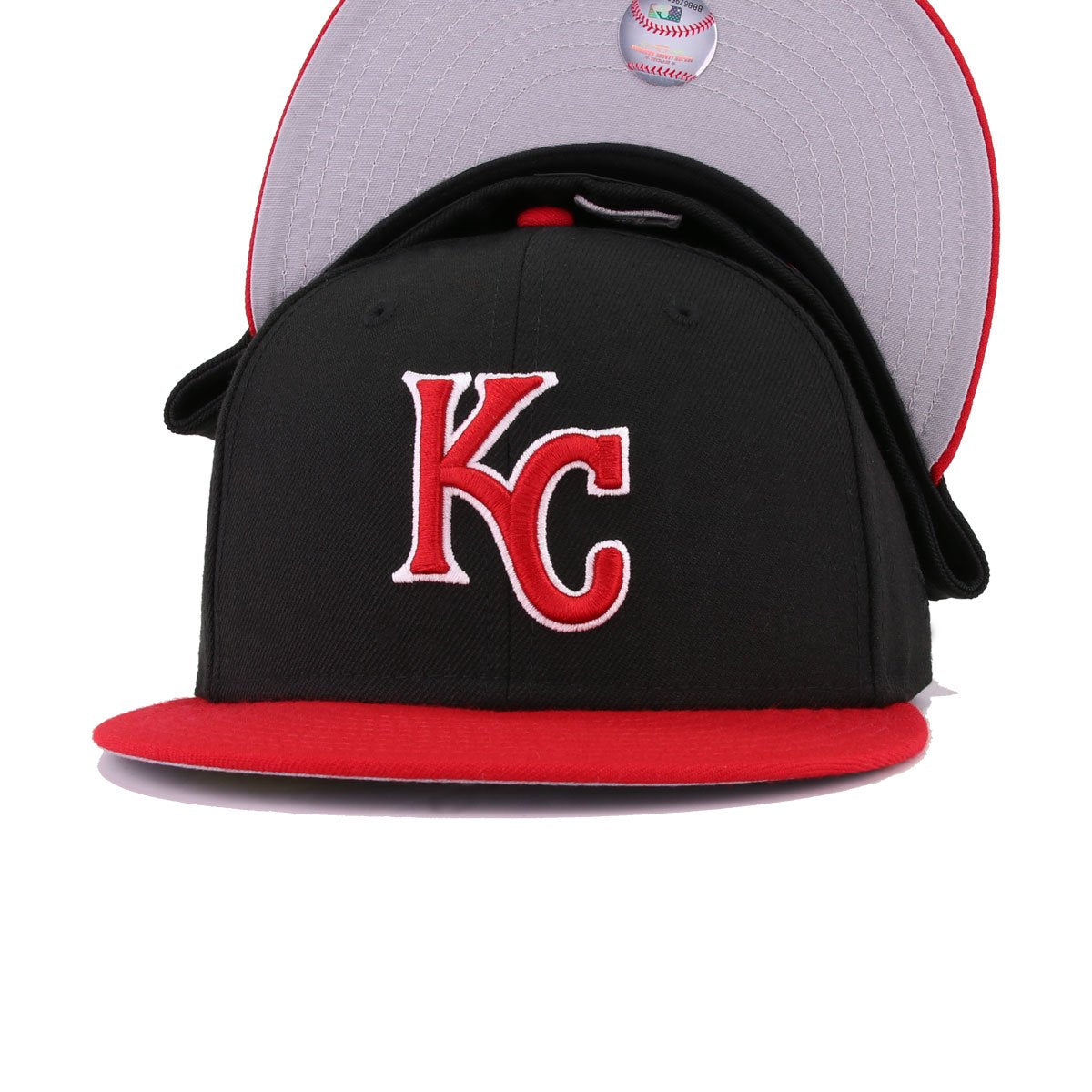 Kansas City Royals Black Scarlet New Era 59Fifty Fitted