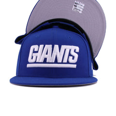 New York Giants Calming Blue White Wordmark Logo New Era 9Fifty Snapback