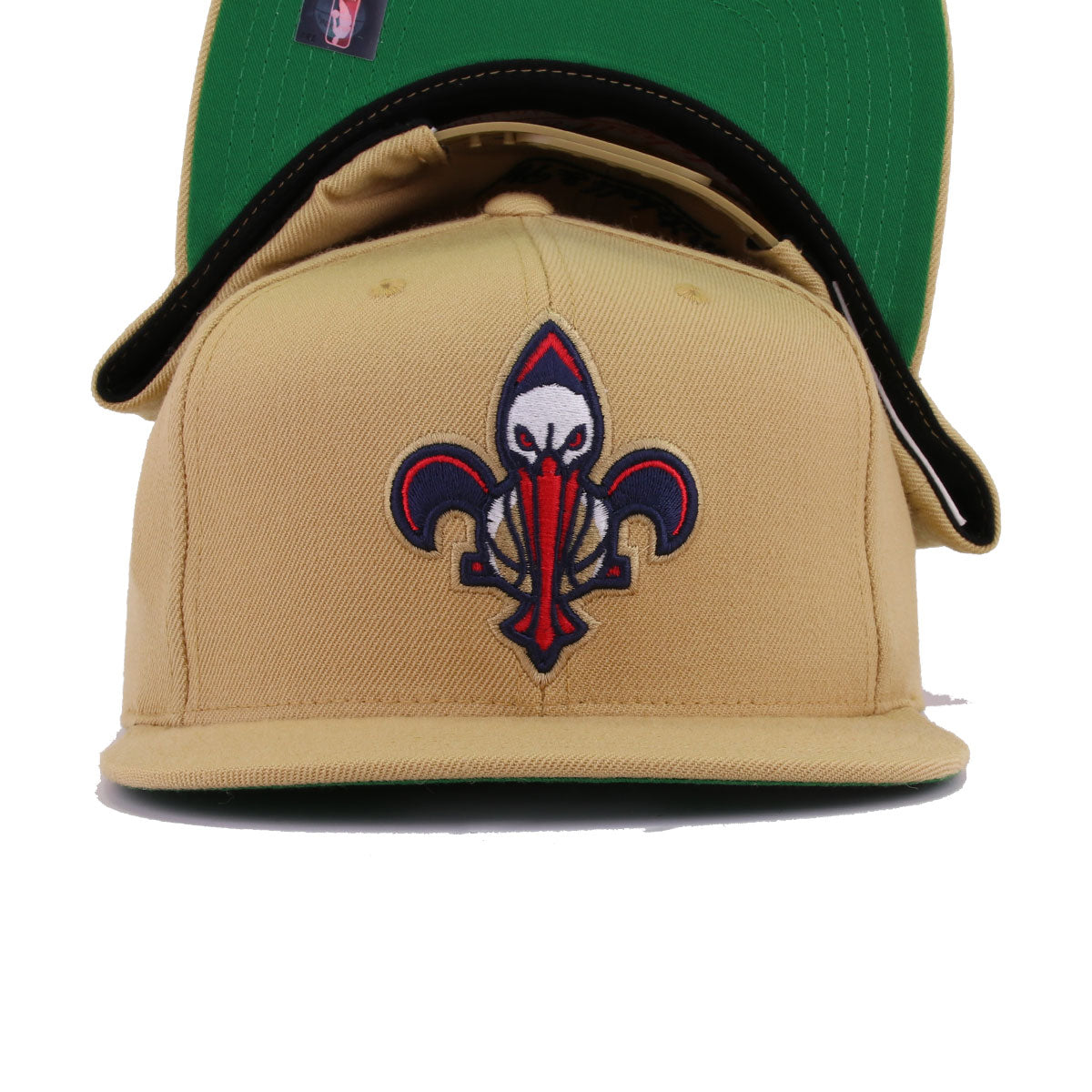 New Orleans Pelicans Nop Gold Fleur De Lis Mitchell And Ness Snapback