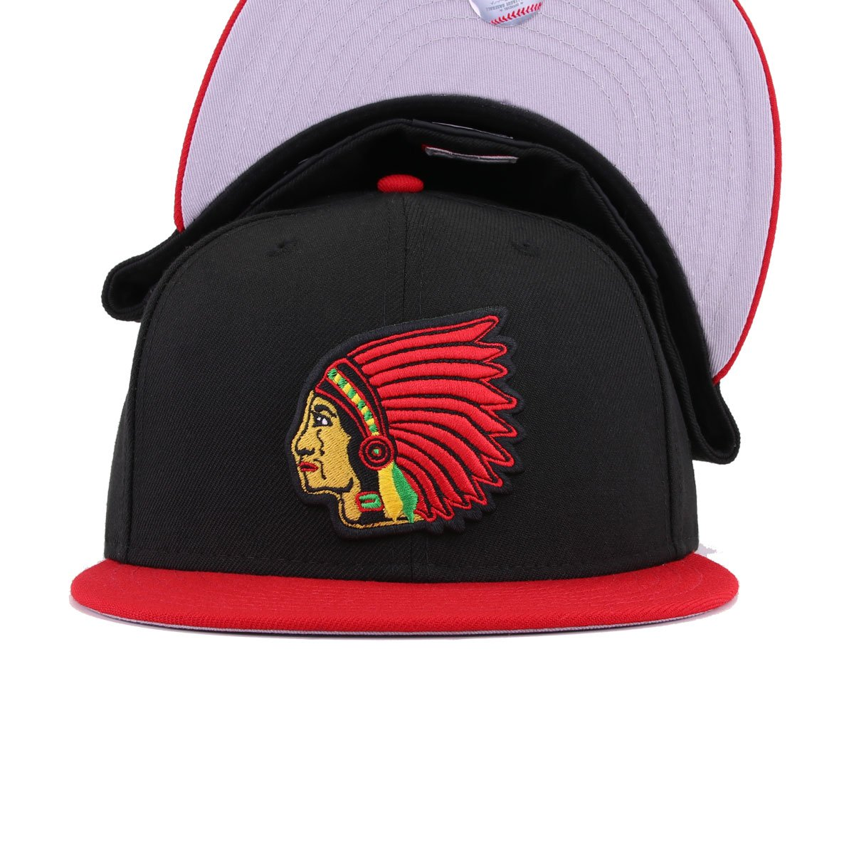 Boston Braves Black Scarlet Cooperstown New Era 59Fifty Fitted
