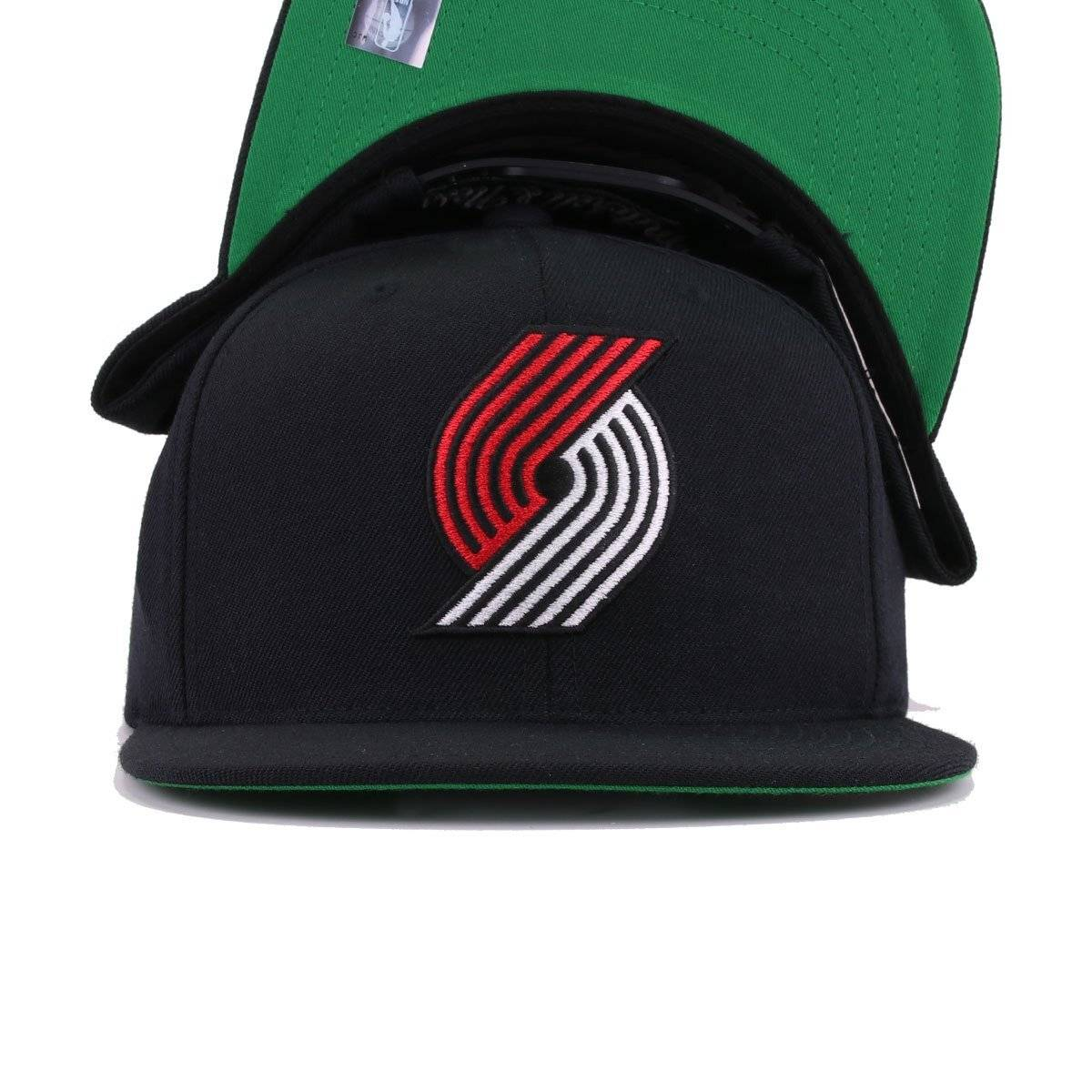 competitive price 0d3e2 2eb68 Portland Trail Blazers Black Mitchell and Ness Snapback