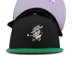 Boston Celtics Black Kelly Green Dissected New Era 59Fifty Fitted