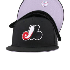 Montreal Expos Black Scarlet Cooperstown New Era 9Fifty Snapback