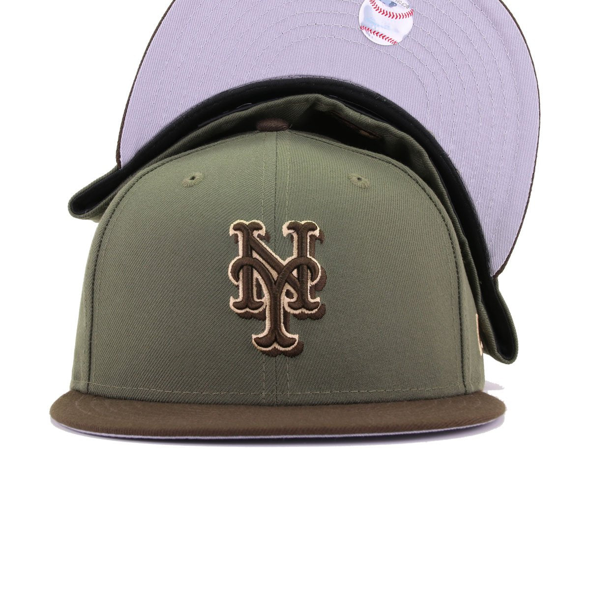 New York Mets New Olive Walnut New Era 59Fifty Fitted