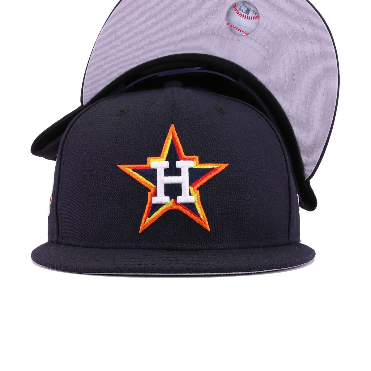 Houston Astros Navy Radiant Red Grilled Orange Ombre Gold 45th Anniversary New Era 9Fifty Snapback