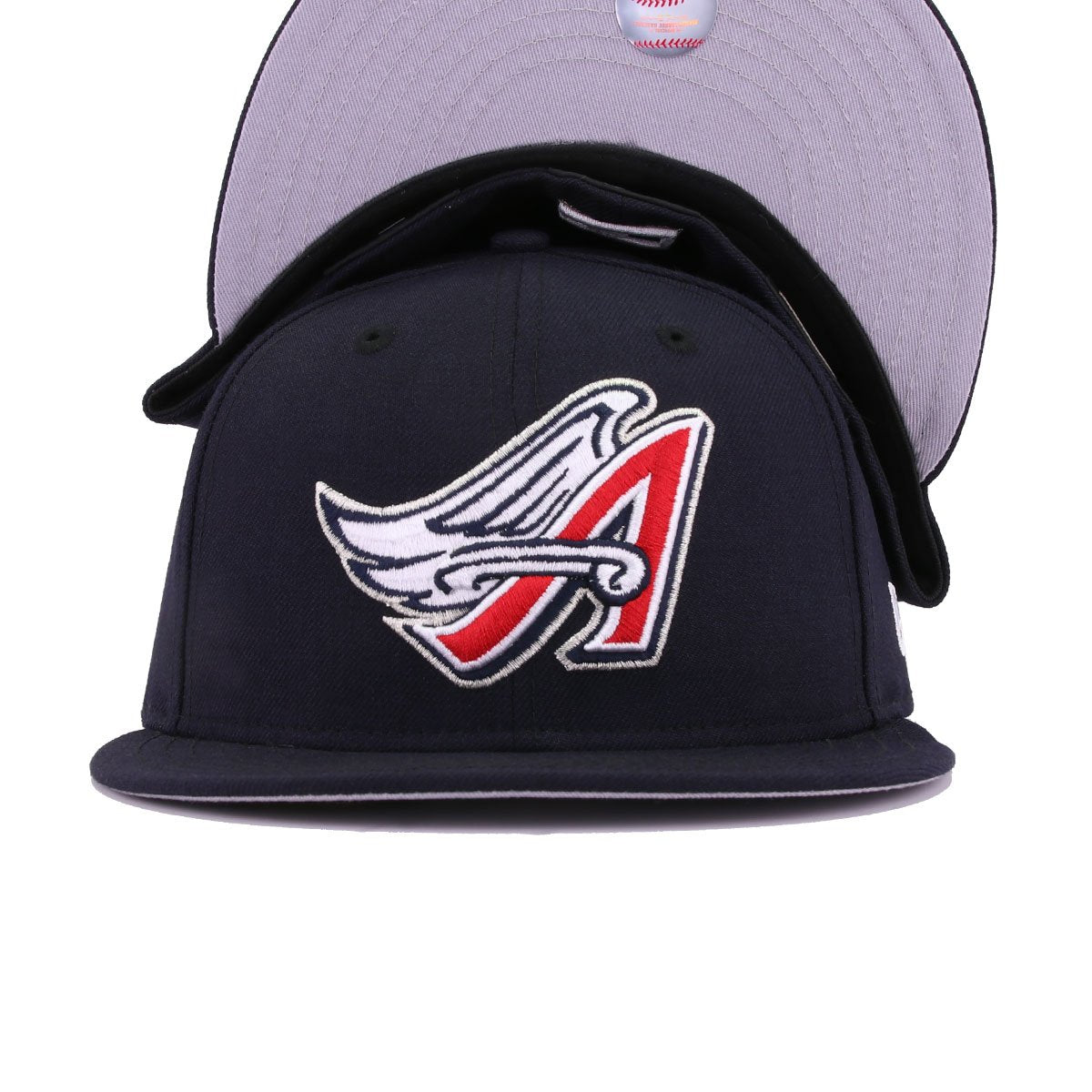 Los Angeles Angels Navy Metallic Silver Cooperstown New Era 59Fifty Fitted