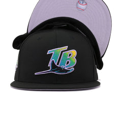 Tampa Bay Rays Black 1998 Inaugural Season New Era 59Fifty Fitted