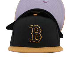 Boston Red Sox Black Panama Tan New Era 59Fifty Fitted