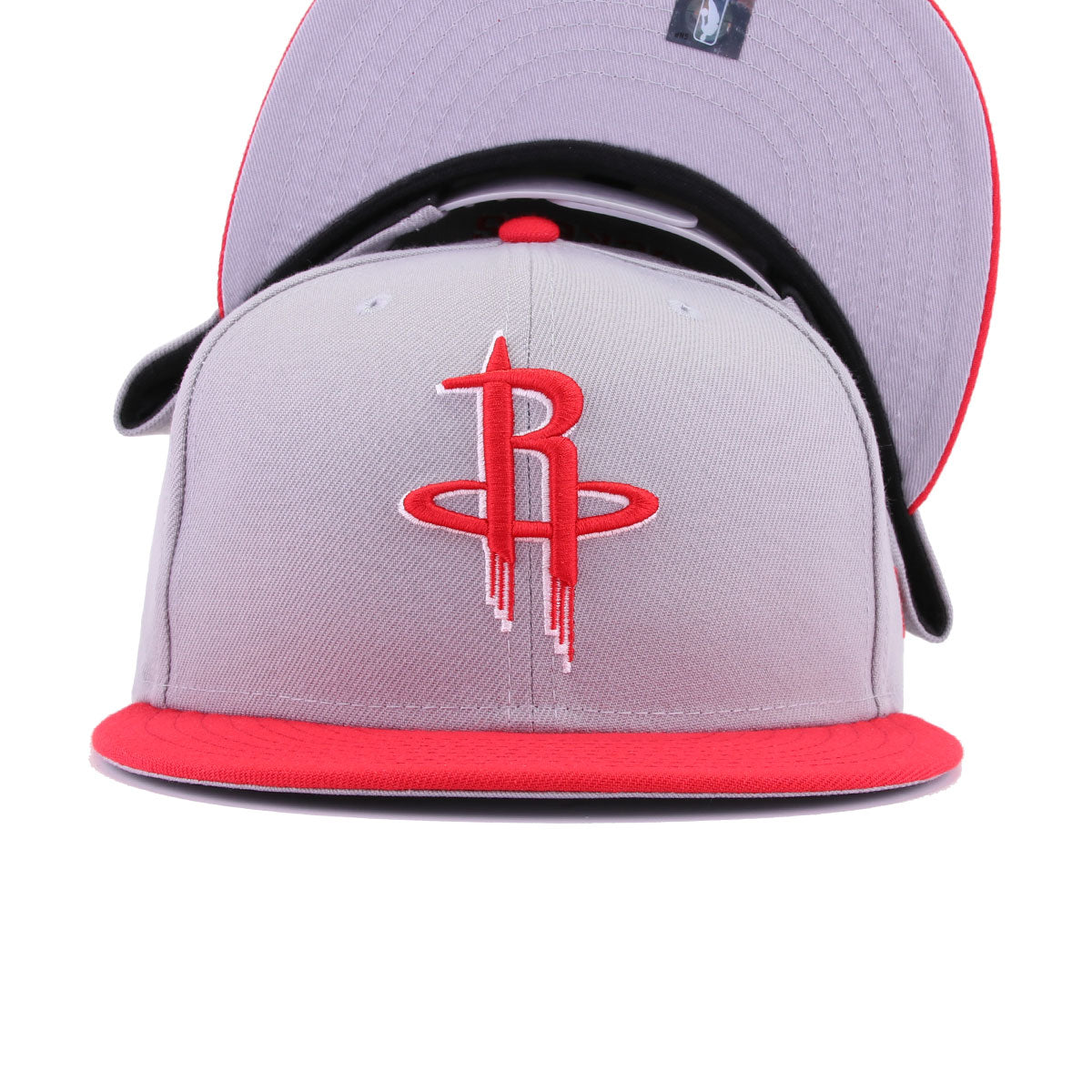 Houston Rockets Grey Front Door Red New Era 9Fifty Snapback
