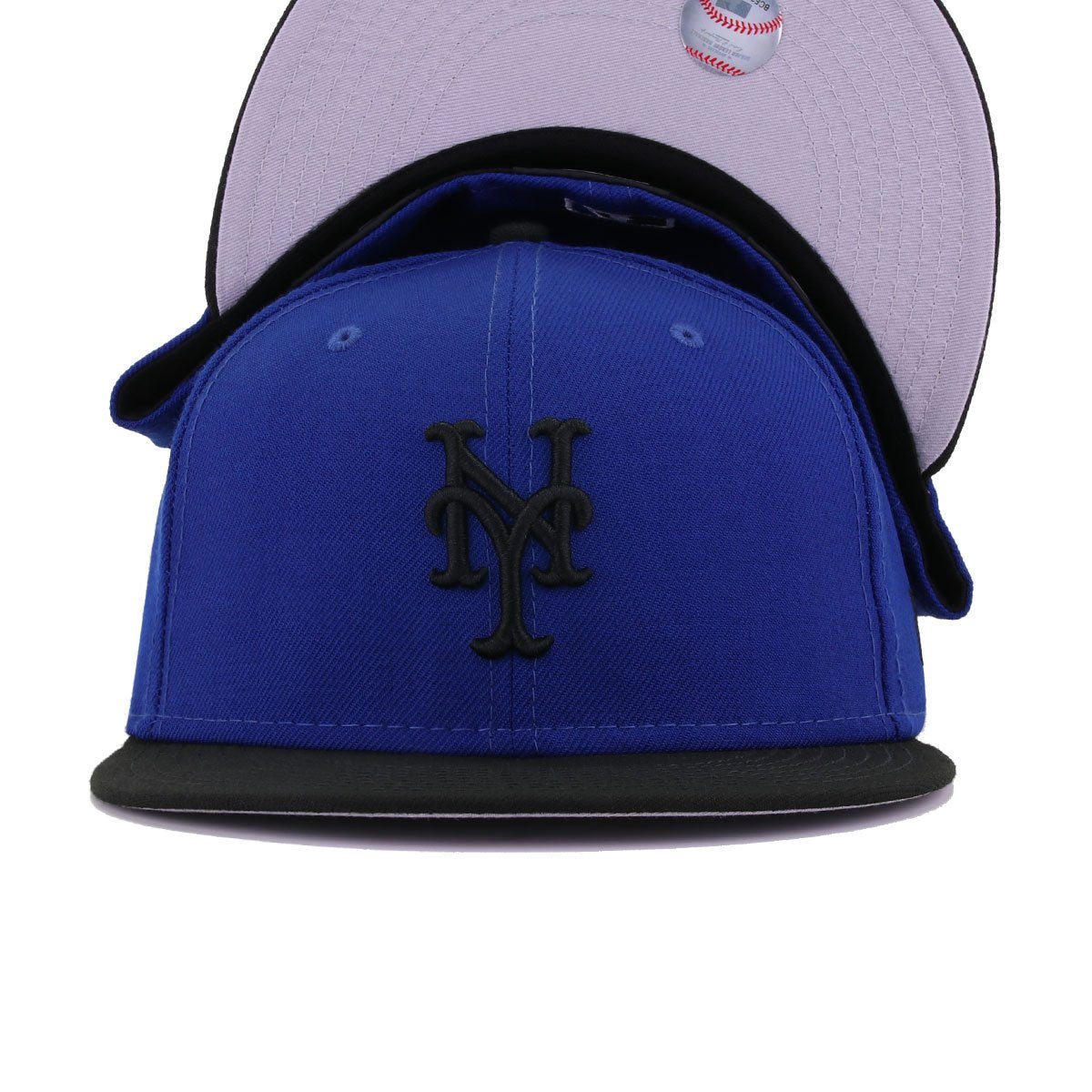 New York Mets Light Royal Blue Black New Era 59Fifty Fitted