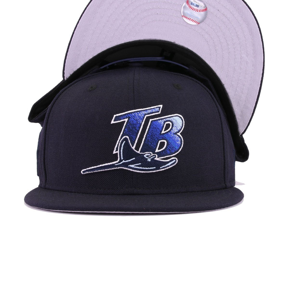 Tampa Bay Rays Navy Tonal 10th Anniversary New Era 9Fifty Snapback