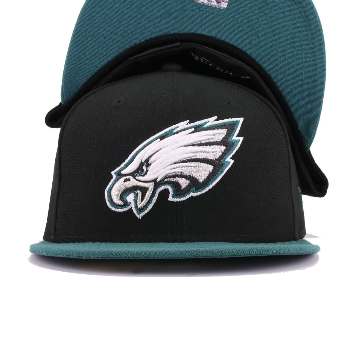 Philadelphia Eagles Black Pine Needle Green New Era 59Fifty Fitted