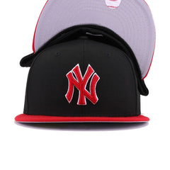 New York Yankees Black Scarlet New Era 59Fifty Fitted