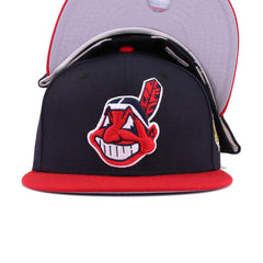 Cleveland Indians Navy Scarlet 1995 World Series New Era 59Fifty Fitted