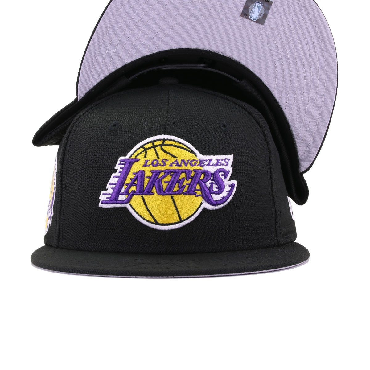 Los Angeles Lakers Black 60th Anniversary New Era 9Fifty Snapback