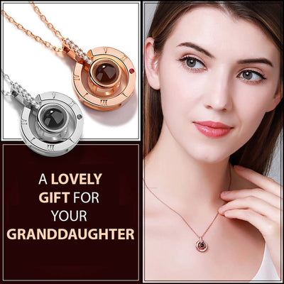 Granddaughter I Love you in 100 languages Necklace