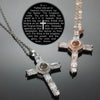 Lord's prayer cross necklace for women, cross necklace for men
