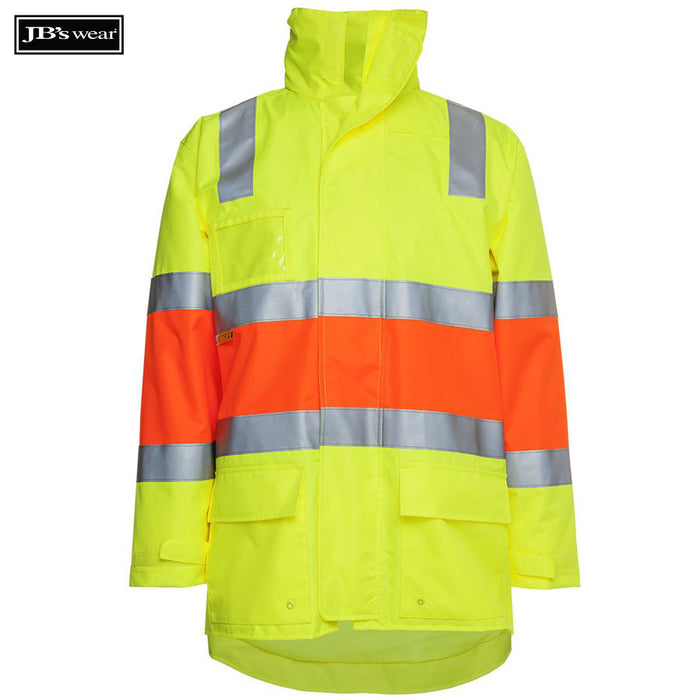 JB's Wear 6DRP Hi Vis Longline Biomotion D+N Jacket