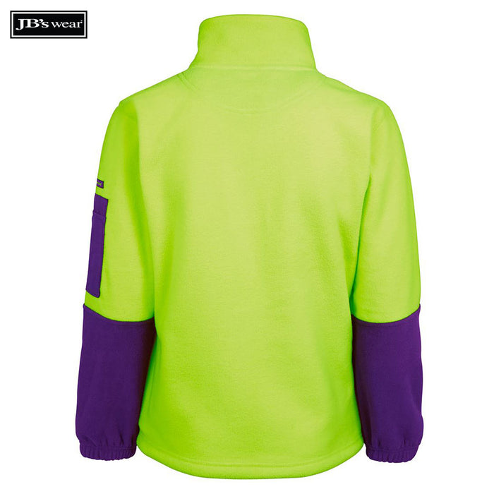 JB's Wear 6HVLP Ladies Hi Vis 1/2 Zip Polar Fleecy