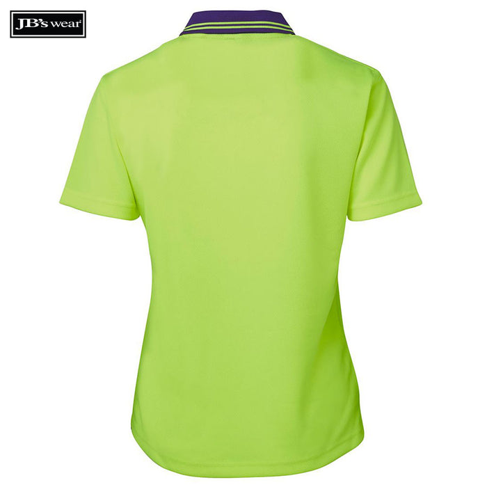 JB's Wear 6LHCP Ladies Hi Vis S/S Comfort Polo
