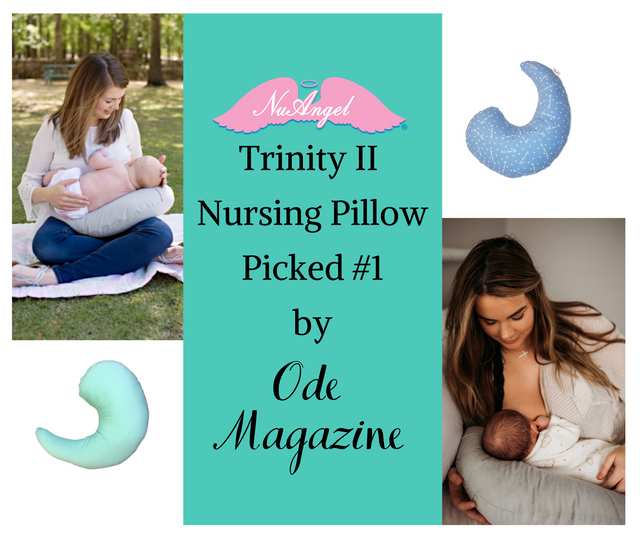 NuAngel's Nursing Pillow is the #1 Pick for Nursing Pillows by Ode Magazine!