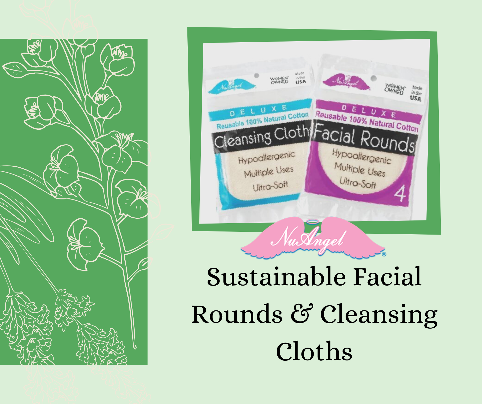 Sustainable Facial Rounds and Cleansing Cloths