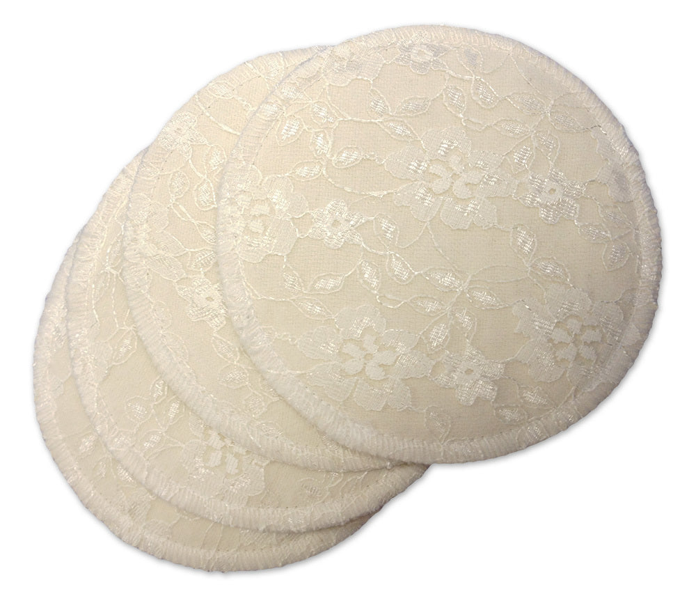 Washable Nursing Pads With Lace (4 Per Package)