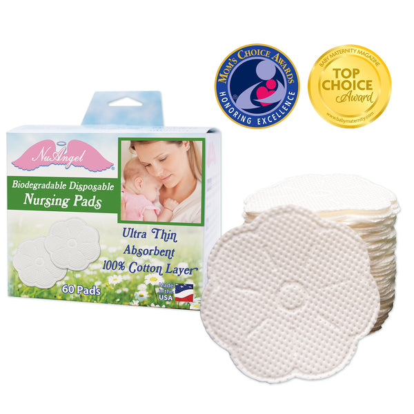 Biodegradable Disposable Nursing Pads in box with awards