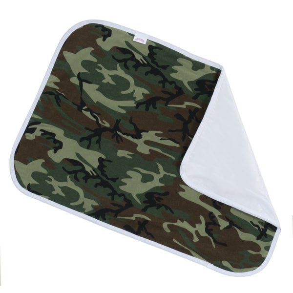 green camo changing pad