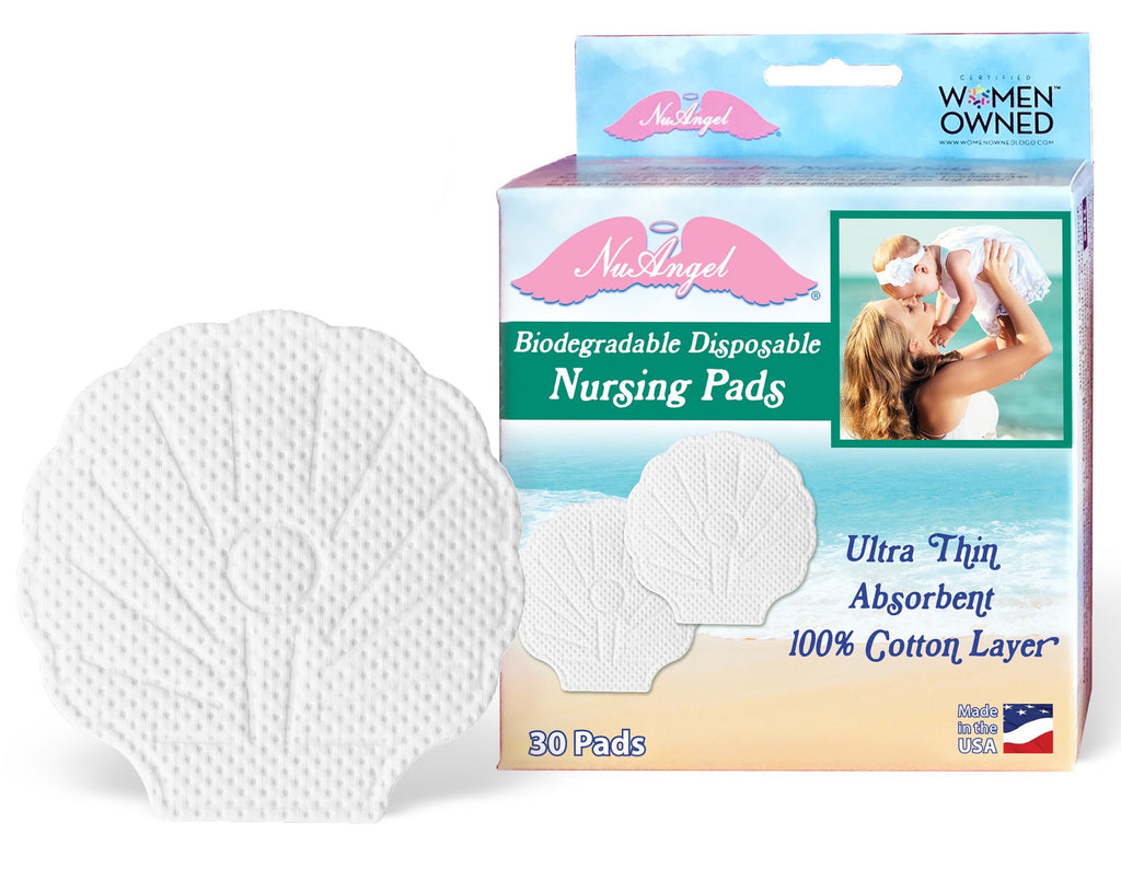 Biodegradable Disposable Nursing Pads - Shell (30 count)