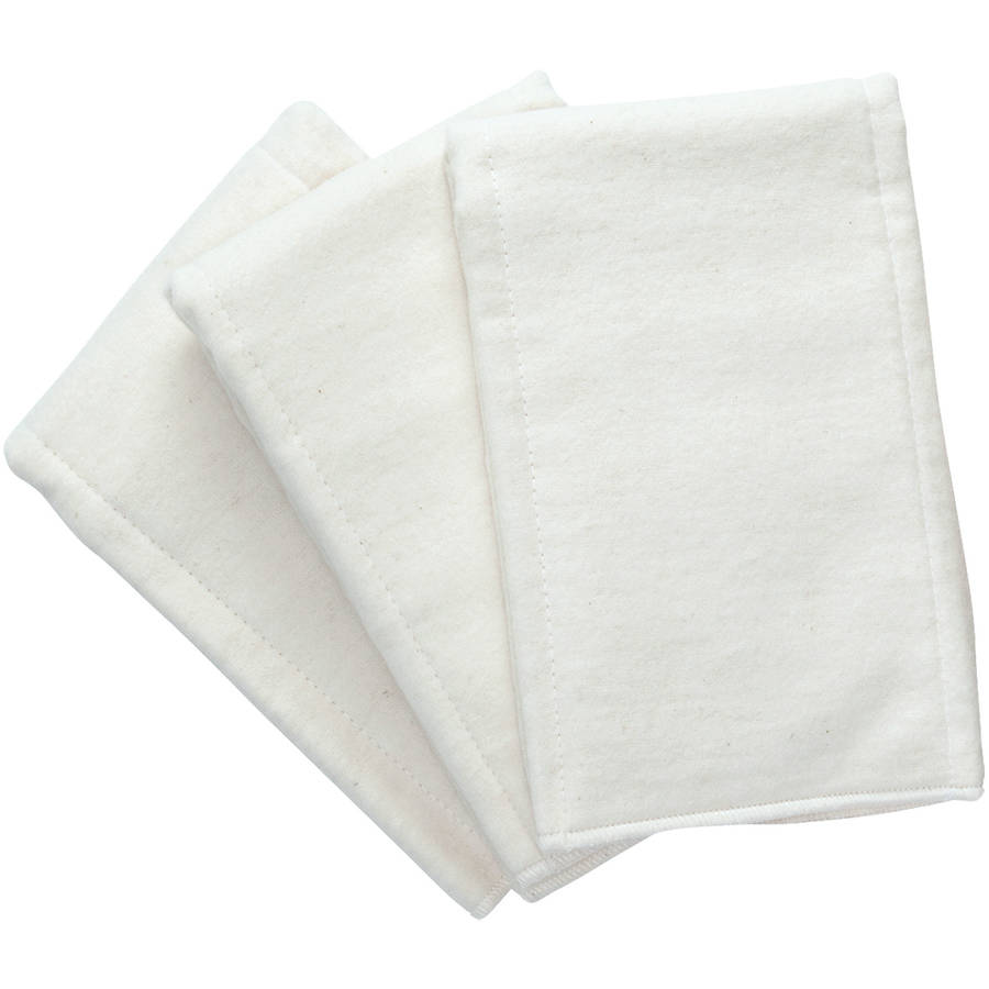 white pre-fold diapers