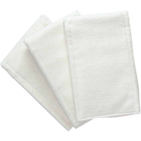 white prefold diapers