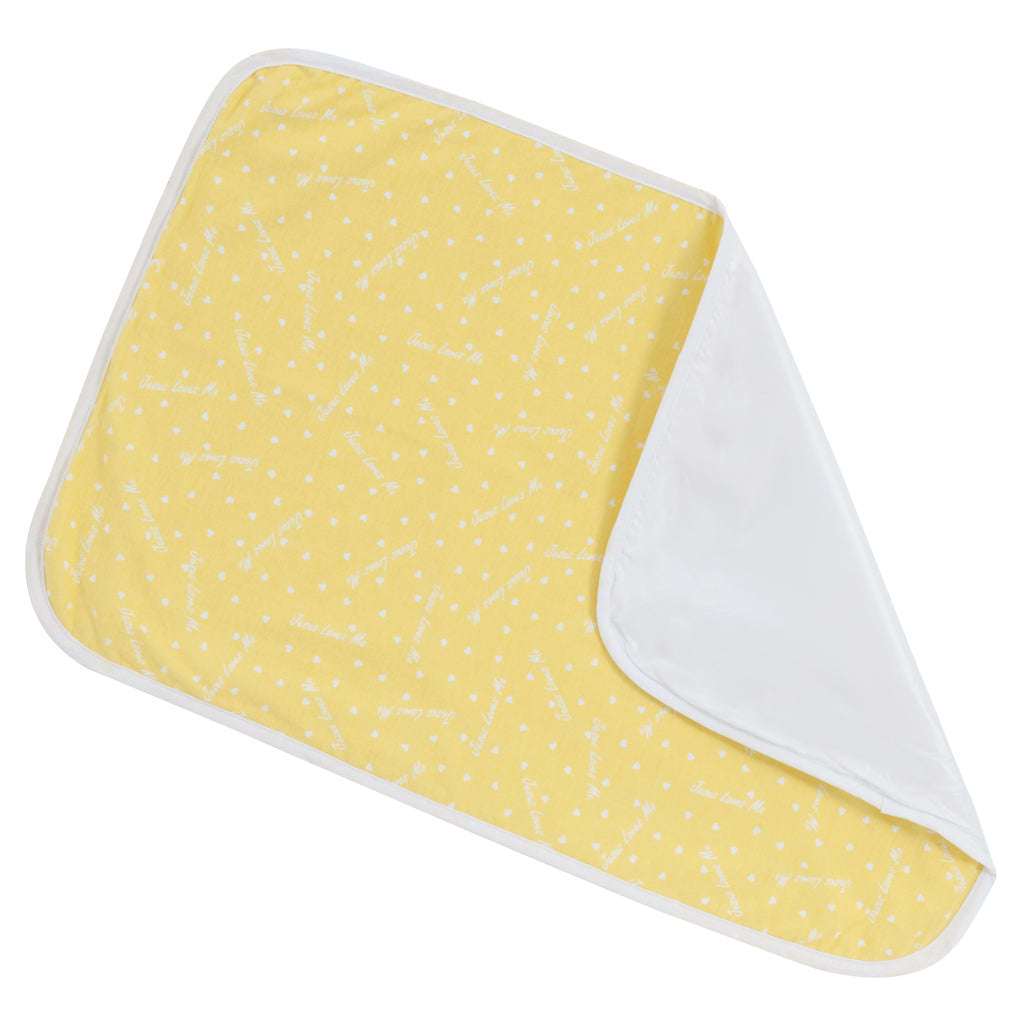 "Changing Pad - Sunshine Yellow ""Jesus Loves Me"""