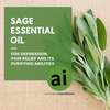 Sage essential oil for depression, pain relief and its purifying abilities. Aromatic Ingredients