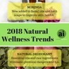 What are the top Natural Wellness trends for 2018?