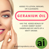 The Best Uses of Geranium Oil in Cosmetic and Self Care Products
